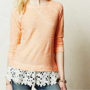 Anthro Sunday in Brooklyn Citrus Lace Pullover